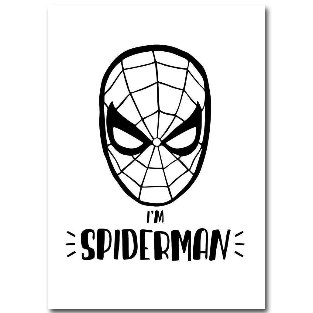 online shop cute cartoon superhero minimalist art canvas poster
