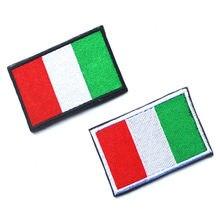 1 adet tam nakış İtalya bayrağı yama sırt çantası ceket kol bandı rozeti cırt cırt etiket