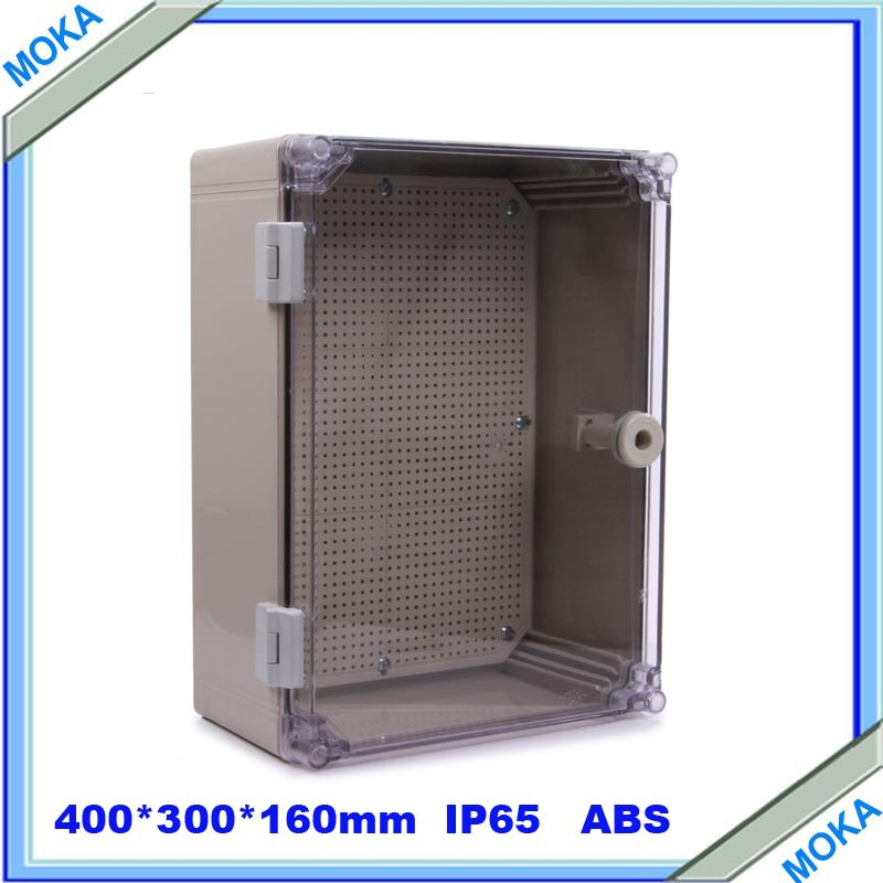 ФОТО Quality Product ABS Material Transparent Cover IP65 Standard waterproof electrical box 400*300*160mm
