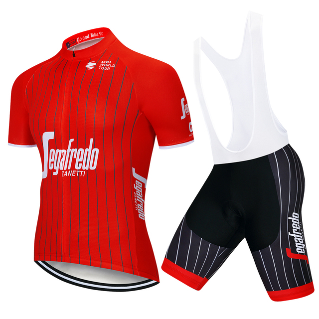 e92b3c00e UCI Quick Step Cycling Clothing Bike jersey Quick Dry Mens Bicycle clothes  mens summer team Cycling Jerseys gel bike shorts set