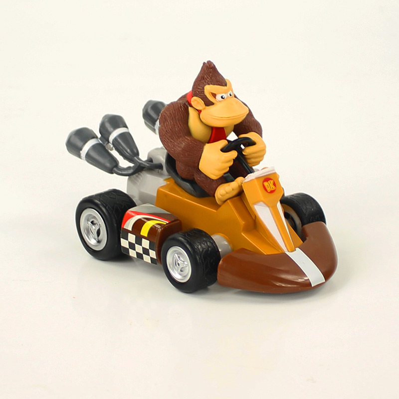 13CM Super Mario Bros Figures Japan Anime Luigi Dinosaurs Donkey Kong Bowser Kart Pull Back Car Pvc Figma Kids Hot Toys for Boys