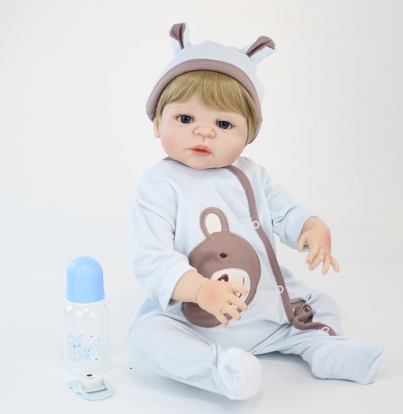 55cm Full Silicone Body Reborn Doll Toys Newborn Toddler Boy Babies Doll Birthday Gift Kids Bathe Toy Girl Baby Alive Boneca 22 inches soft silicone reborn baby dolls cloth body real looking newborn alive girl babies boneca toy kids birthday xmas gift