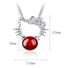 Crystal Cute Hello Kitty Pendants Necklaces
