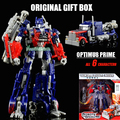 Caja de regalo original optimus prime bumblebee transformación robots voyager figuras de acción figura de acción juguetes clásicos juguetes de los niños