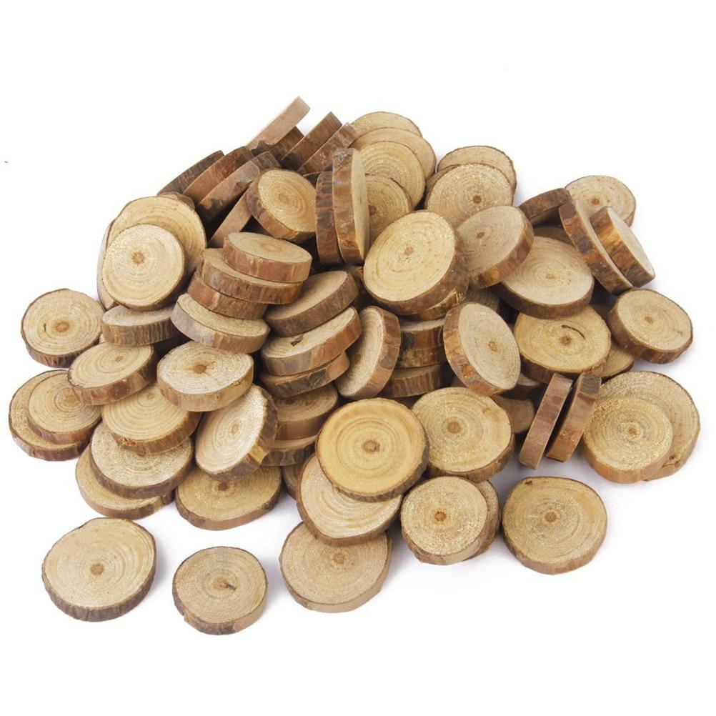 100 шт 1,5-3 см деревянное бревно древесные срезы для DIY ремесла свадебный центральные DIY Дерево инструмент для рукоделия для Хэллоуина