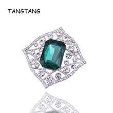 ФОТО fashion new dark green crystal shining women cute class cz rhinestone brooch pin for wedding gift present, item no.: bh8128