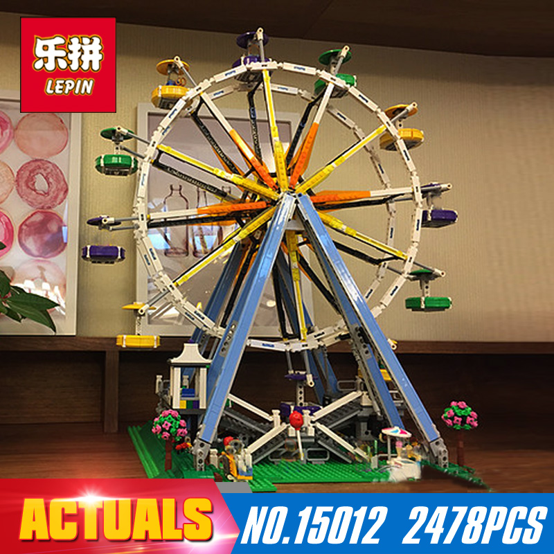 2478Pcs Lepin 15012 City Expert Ferris Wheel Model Building Kits Assembling Block Bricks Compatible with 10247 Educational toys