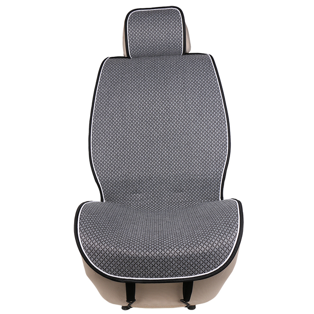 1 Piece Car Front Seat Cover Pad Artificial Linen Automobile Single Cushion O SHI CAR Universal fit for Lada, Buick, Mazda, etc.