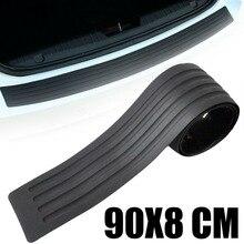 90cm x 8cm Car Truck Rubber Sill Plate Bumper Cover Guard Protector Trim Styling Rear Pad