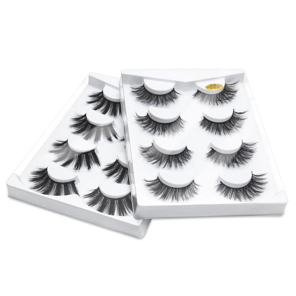 51ed229cb23 SEXY SHEEP 2/4 pairs natural false eyelashes fake lashes long makeup 3d  mink lashes eyelash extension mink eyelashes for beauty