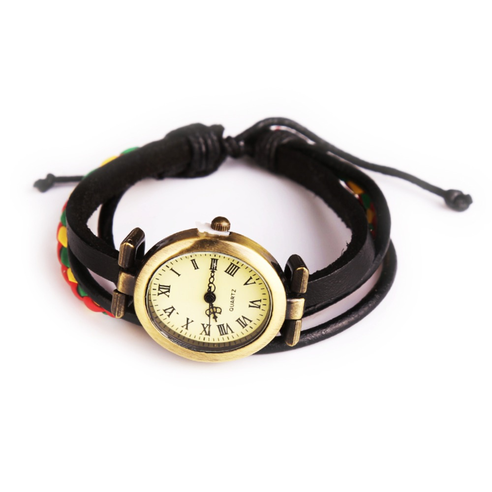 New Style Women Wristwatch Quartz Watch Hand Strap Cow Long Leather Vintage Female Roma Women Dress Watch Oval Black Reloj Mujie люстра потолочная colosseo tristano 81603 3c