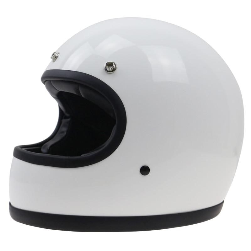 Чисто handmade раковина стеклоткани старинных мотоциклов шлем Ретро шлем анфас ДД кольцо пряжки