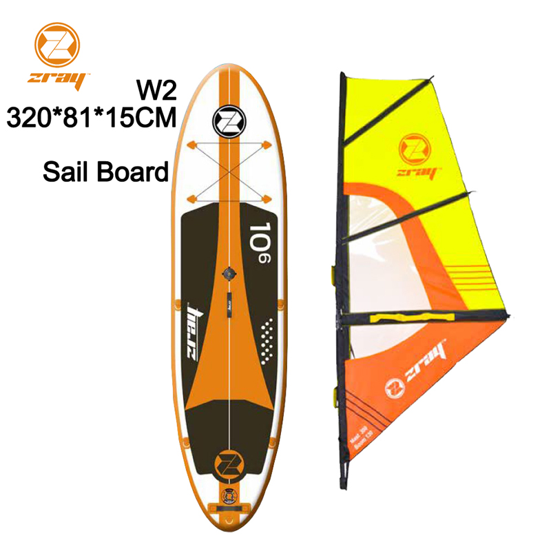 Vela bordo SUP 320*81*15 Z RAY W2 larga gonfiabile stand up paddle board surf kayak sport barca bodyboard remo windsail tender zattera