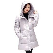 Парки mujer зима 2017 новый самосовершенствование моды в длинный абзац вниз хлопка куртки хлопка пальто куртки miegofce