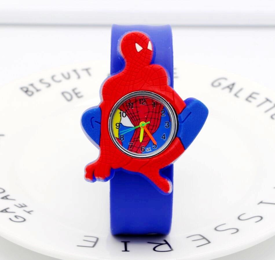 Spiderman Watches Children Cartoon Watch Kids Cool Slap Rubber Strap Quartz Watch Clock Hours Gift Relojes Relogio