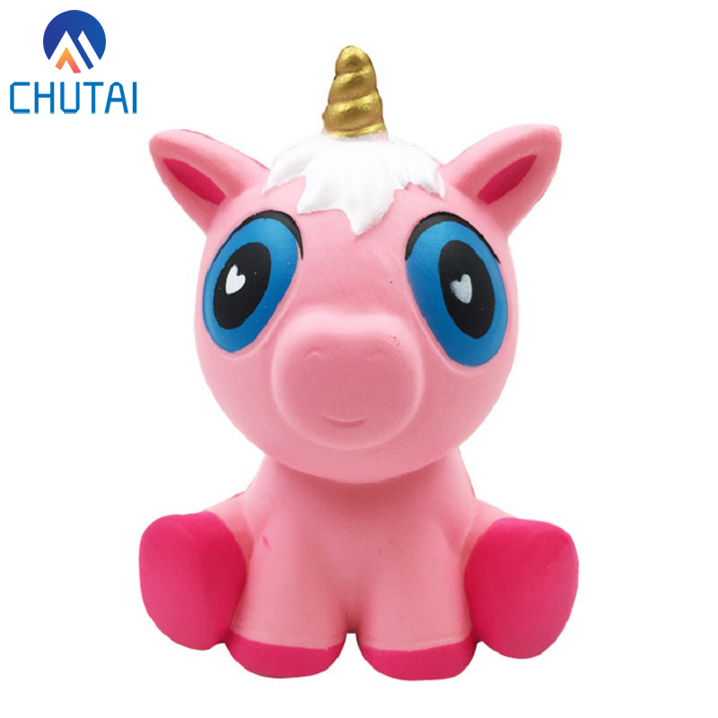 Jumbo Big Pink Pony Unicorn Squishy Slow Rising Squeeze Toys Super Soft Elastic Toy Child Birthday Christmas Gift 16*12CM