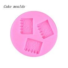Silicone mold K274 notebook shape baking mold Fondant cake mold chocolate mold Decoration tools