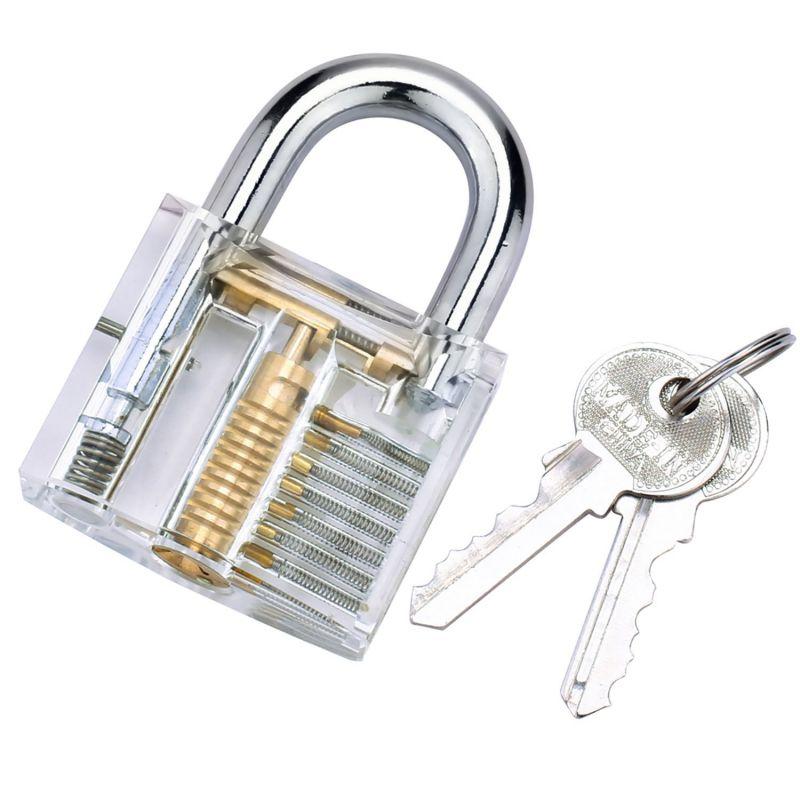 Transparent Locks Pick Visible Cutaway Mini Practice View Padlock Hasps Training Skill For Furniture Hardware Locksmith in Locks from Home Improvement