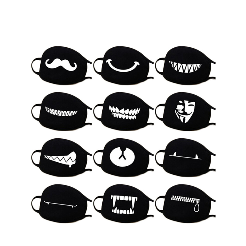 2019 New Unisex Fashion Cotton Dustproof Mouth Face Mask Cartoon Kpop Lucky Women Men Muffle Flu Face Mouth Masks Z4