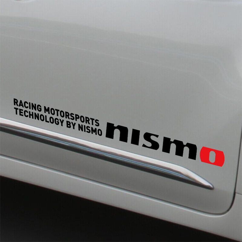 10 Pairs NISMO SPORT Car Stickers Door sticker For Nissan qashqai 2015 juke x-trail tiida note almera accessories yuzhe 2 front seats auto automobiles car seat cover for nissan qashqai note murano march teana tiida x trail car accessories