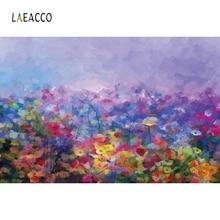 Laeacco Oli Painting Style Flowers Photography Backgrounds Custom Vinyl Photo Studio Photographic Backdrops For Home Decor