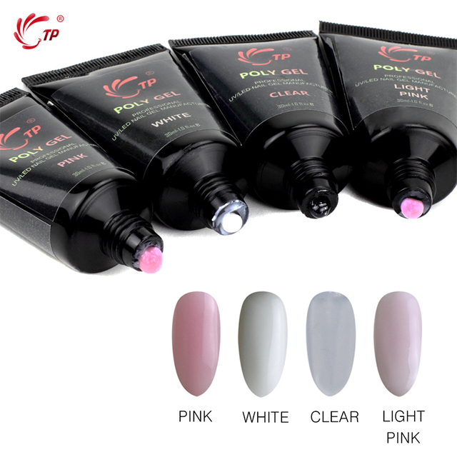 TP 30ML UV Builder Gel Nails Extension Tips French Manicure White Color Tube Nail Poly