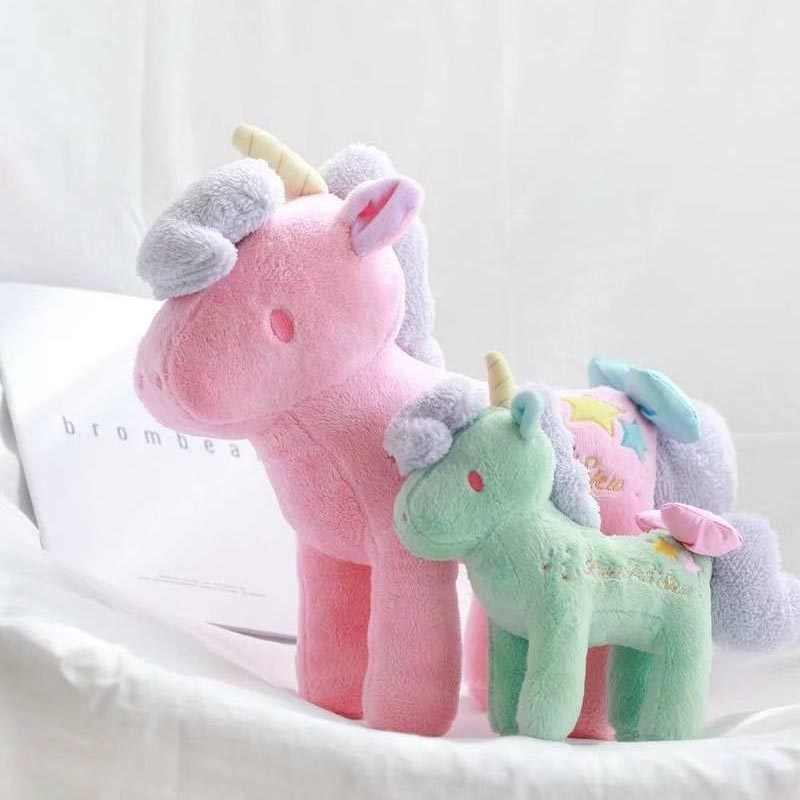 Pluszowy jednorożec miękkie nadziewane Cartoon jednorożec lalki dla dzieci zabawki Cute zwierząt koń wysokiej jakości prezent urodzinowy dla dziecka dziewczyna