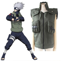 High Quality Japanese Anime NARUTO Hatake Kakashi Green Vest Cosplay Halloween Carnival Party Clothing Costumes