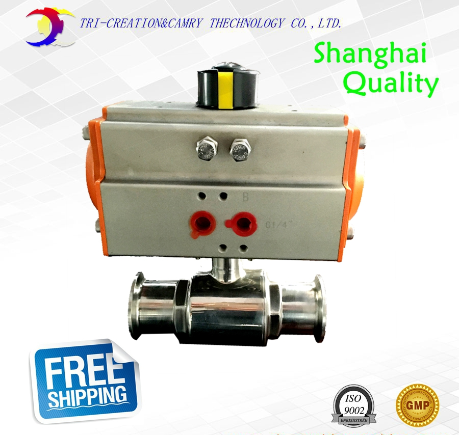 1 1/2 DN32 sanitary stainless steel ball valve,2 way 304 quick-install/food grade pneumatic valve_double acting straight valve 2 sanitary stainless steel ball valve 2 way 304 quick installed food grade pneumatic valve double acting straight way valve