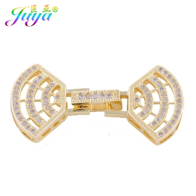 Beadwork Jewelry FIndings Micro Pave Zircon Fan Shape Sector Connect Clasp  Accessories For Women Handmade Pearls Jewerly Making e323a1f495ae