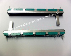 Image 1 - Бесплатная доставка оригинальный 7,5 см 75 мм A10KX2 двойной прямой скользящий потенциометр A10K    20 шт./лот