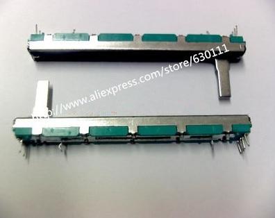 Бесплатная доставка оригинальный 7,5 см 75 мм A10KX2 двойной прямой скользящий потенциометр A10K    20 шт./лот