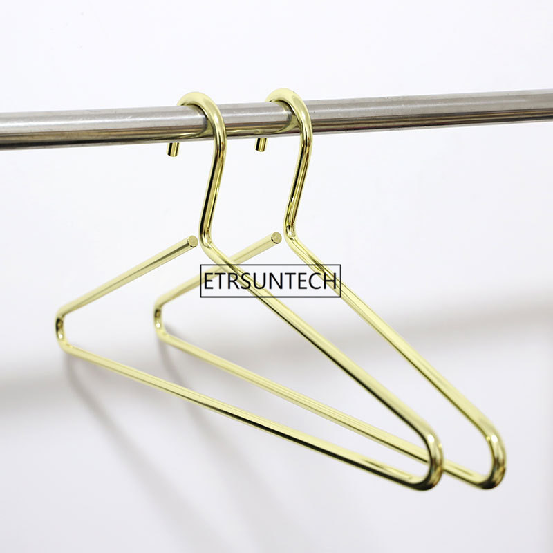 Gold Metal Clothes Hanger Heavy Duty Strong Coats Hanger Nordic Suit Hanger 8mm Thickness