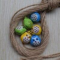 100pcs small lovely owl multicolor optional new design 20*18MM Children dance the bell / Pet bell 011003021