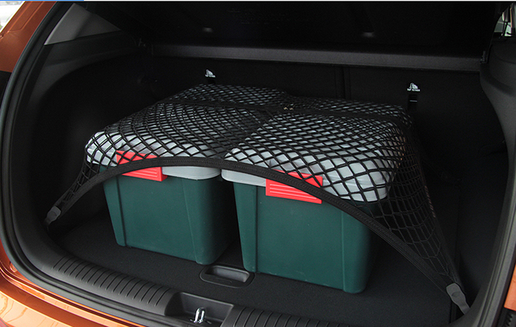 High Elastic Custom fit single layer car trunk net cargo