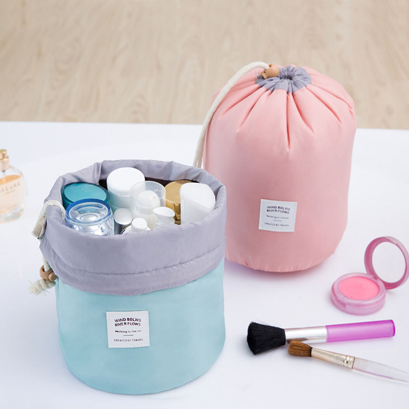 Multifunction Makeup Bag Pencil Case Barrel Shaped Women Cosmetic Bag waterproof Travel Bags Ladies Bolsas