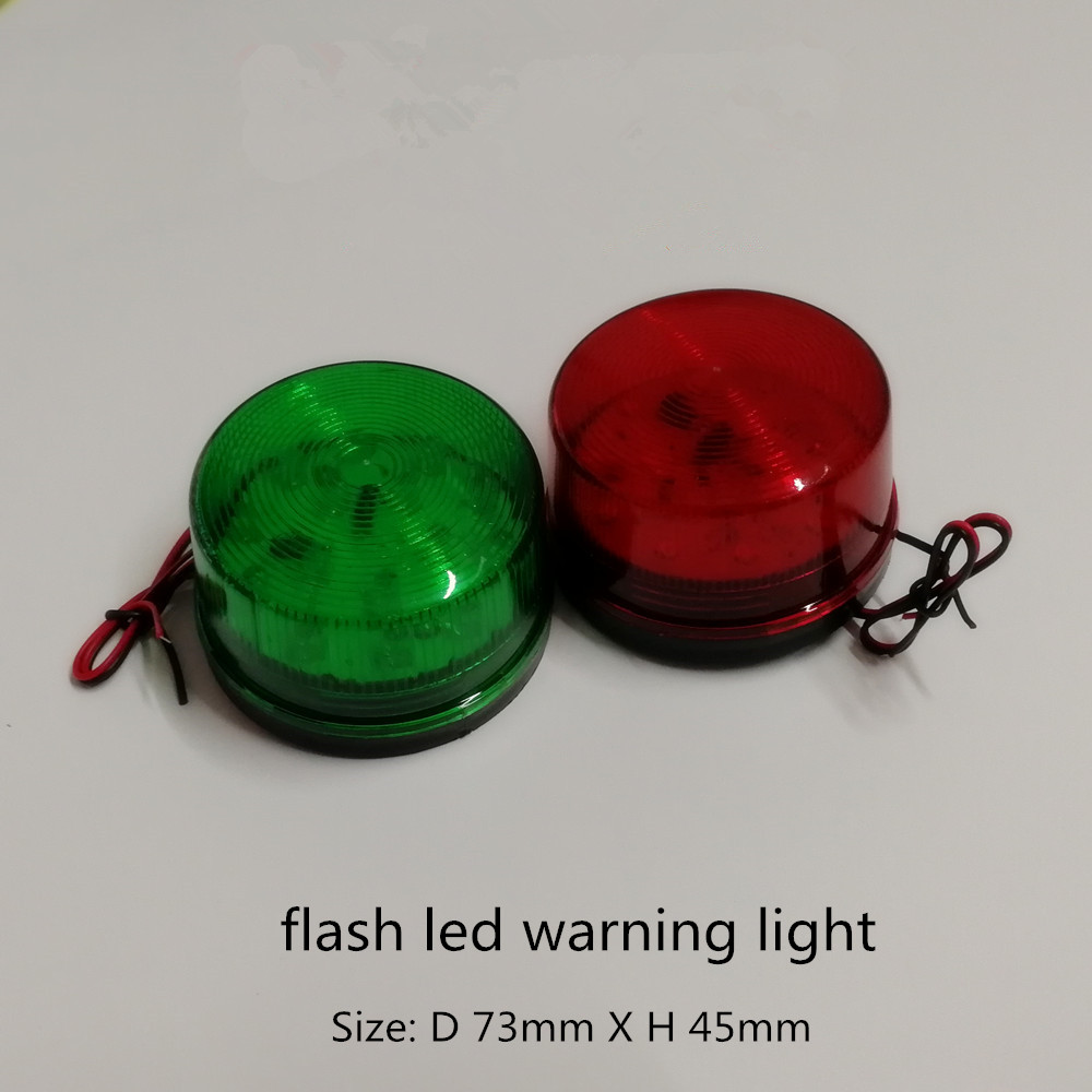 LED Warning Light Bulb Rotating Flashing Signal Tower Lamp AC/DC12V Red Led Strobe Light Industrial Signal Mini Warning Lamp