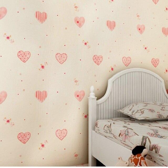 053M X 10M 3D Heart Shape Wallpaper Textured Feature Wall Paper For Kids Room