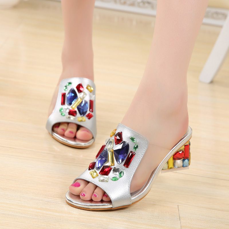 2016 New Casual Wedge font b Women b font Sandals Shoes Fish Head Thick Big Yards