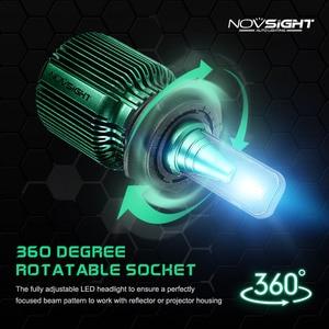 Image 5 - NOVSIGHT 2pcs טורבו led רכב אור h4 h7 h11 h8 led הנורה 6500k 12v 24v 10000lm IP68 עמיד למים סופר led רכב פנס נורות