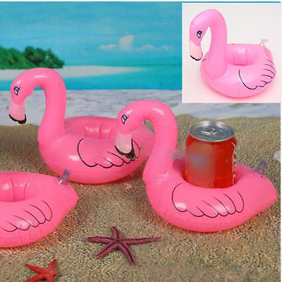 6 pieces Inflatable Drink Stand Floating Pool Spa Kids Toy Bird Water bottle mat pad