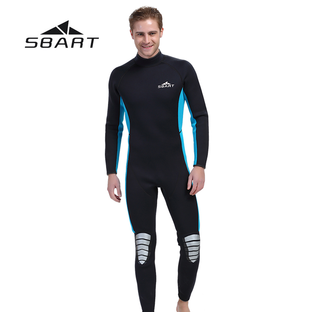 SBART Men Scuba Diving Wetsuit Kite Surfing Snorkeling Full Body Swimwear Water Sports Triathlon Spearfishing Suit 3mm Neoprene sbart 3mm neoprene men camouflage full body wetsuit spearfishing fishing swimwear scuba diving suit jumpsuit snorkeling wetsuit