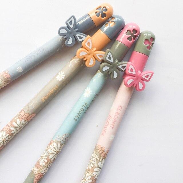Q51 3x Sweet Erfly Flower Gel Pen School Office Supply