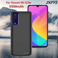 6500mAh High Quality External Power Case For Xiaomi Mi CC9e Portable Power Bank Battery Case Battery Pack Backup Charger Case