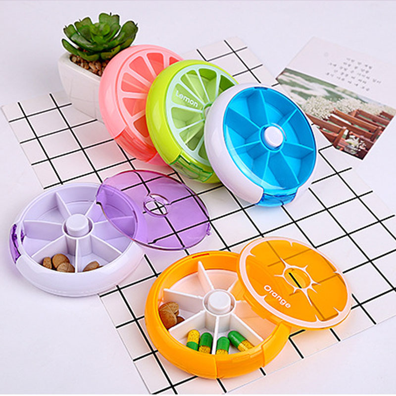 7 Day Weekly Round Fruit Shaped Pill Box Drugs Holder Tablet Medicine Sort Storage Case Vitamin Storage Box Container Organizer(China)