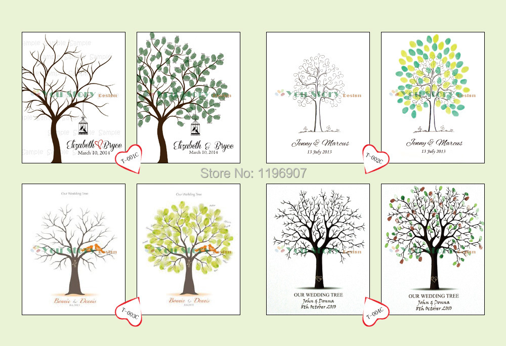50x70 cm nice vintage tree style wedding fingerprint tree guestbook personalize bridal shower wedding decorations in cards invitations from home garden