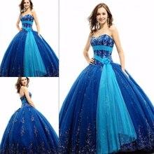 Neue Gürtel Korsett Blau Quinceanera Kleider 2017 Perlen Liebsten Vestido De Debutante Kleid 15 Jahre Ballkleider vestido festa