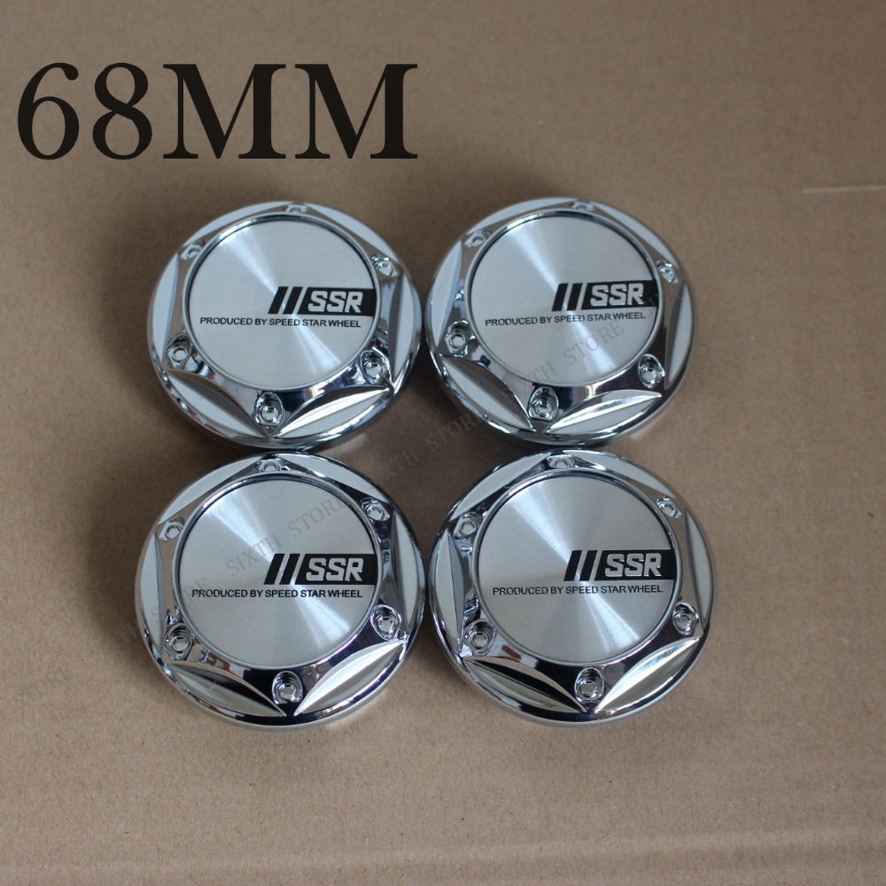 KOM POWER High Quality 68mm SSR Sticker Emblem SSR Wheels Center Caps Wheel Covers Hub Cap 68mm 4PCS Wheels Car Car Styling