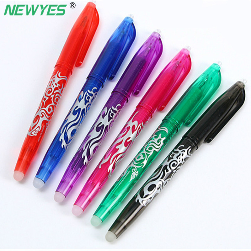NEWYES 0.5mm Smart Reusable Notebook Erasable Pen Gel 8 Color Ink Refill Kawaii Kids Magic School Office Supplies Stationery