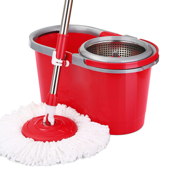 Mop bucket rotating double drive hand-free washing household bucket mop